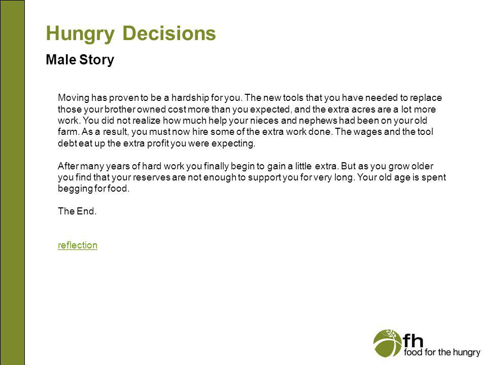 Hungry Decisions Male Story m26