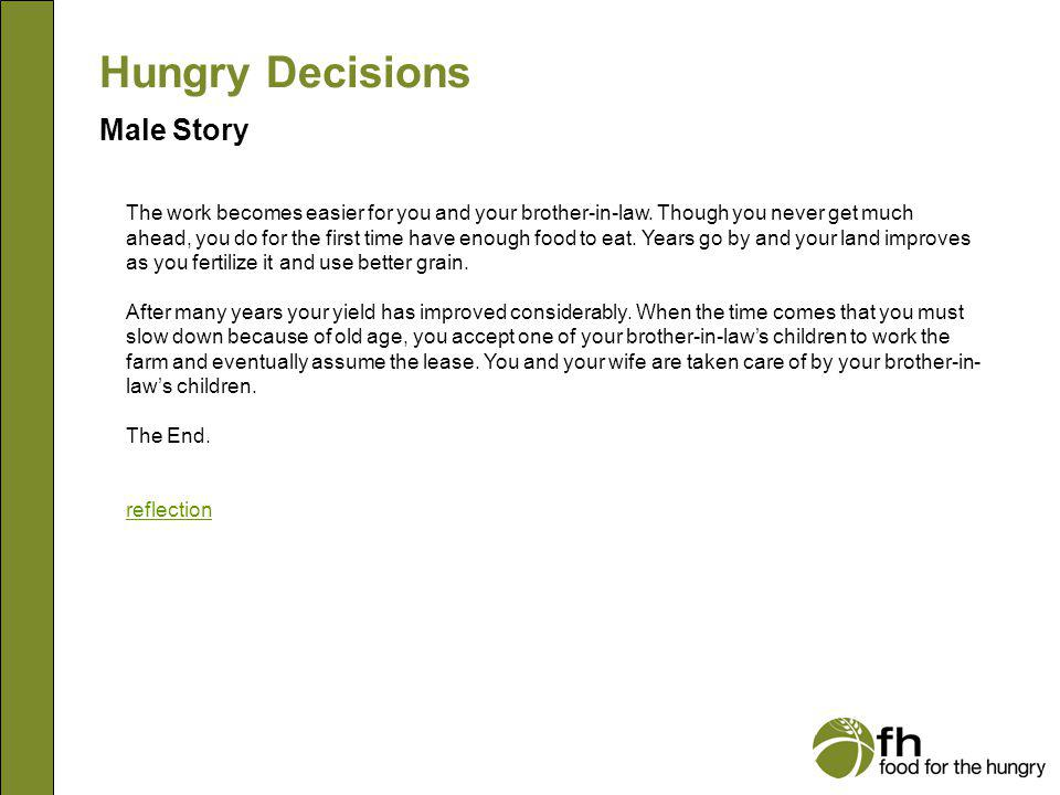 Hungry Decisions Male Story m27