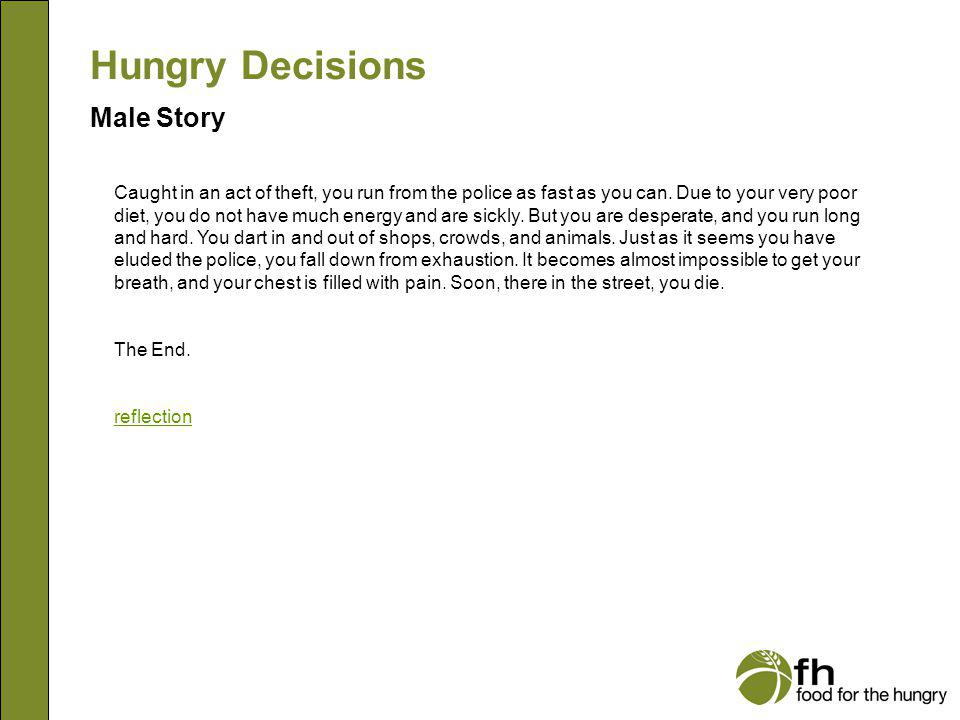 Hungry Decisions Male Story m28