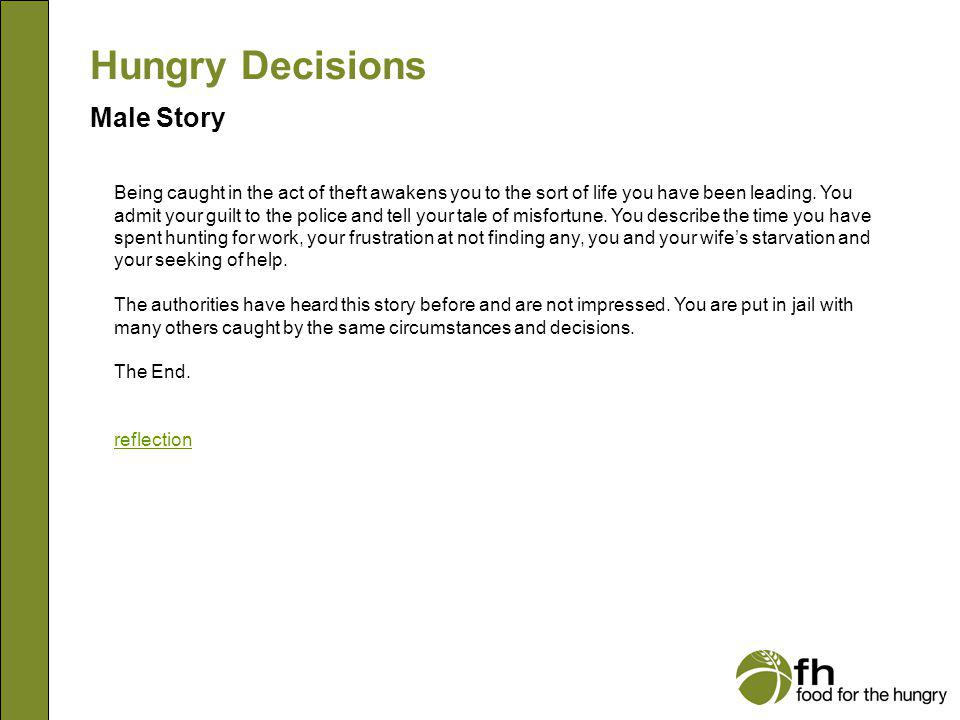 Hungry Decisions Male Story m29