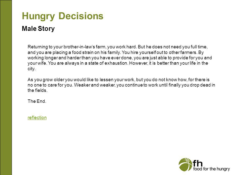 Hungry Decisions Male Story m30