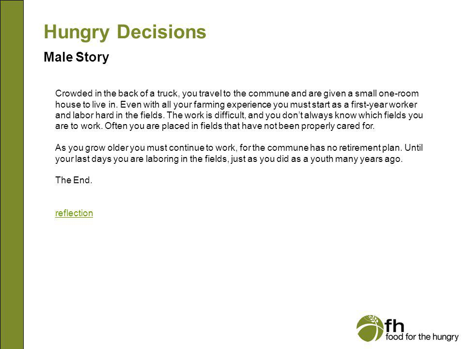 Hungry Decisions Male Story m31