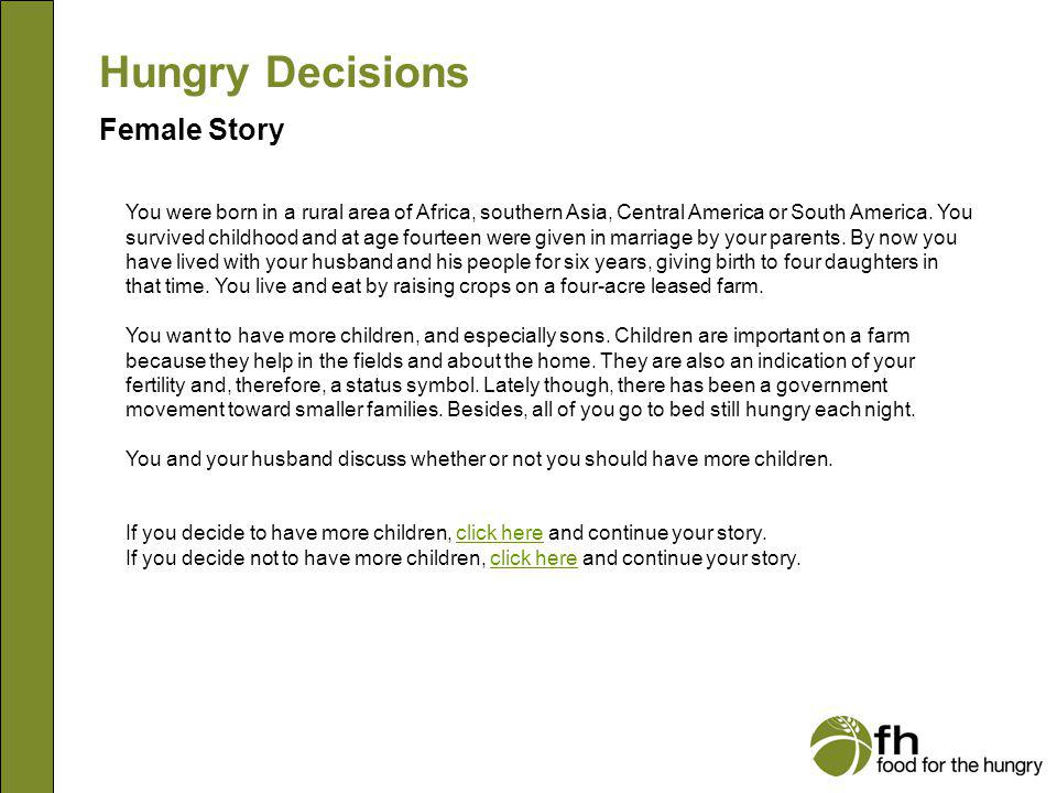 Hungry Decisions Female Story f1