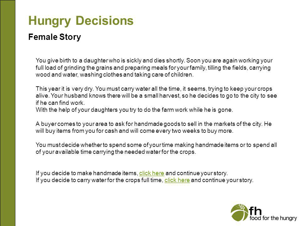 Hungry Decisions Female Story f2