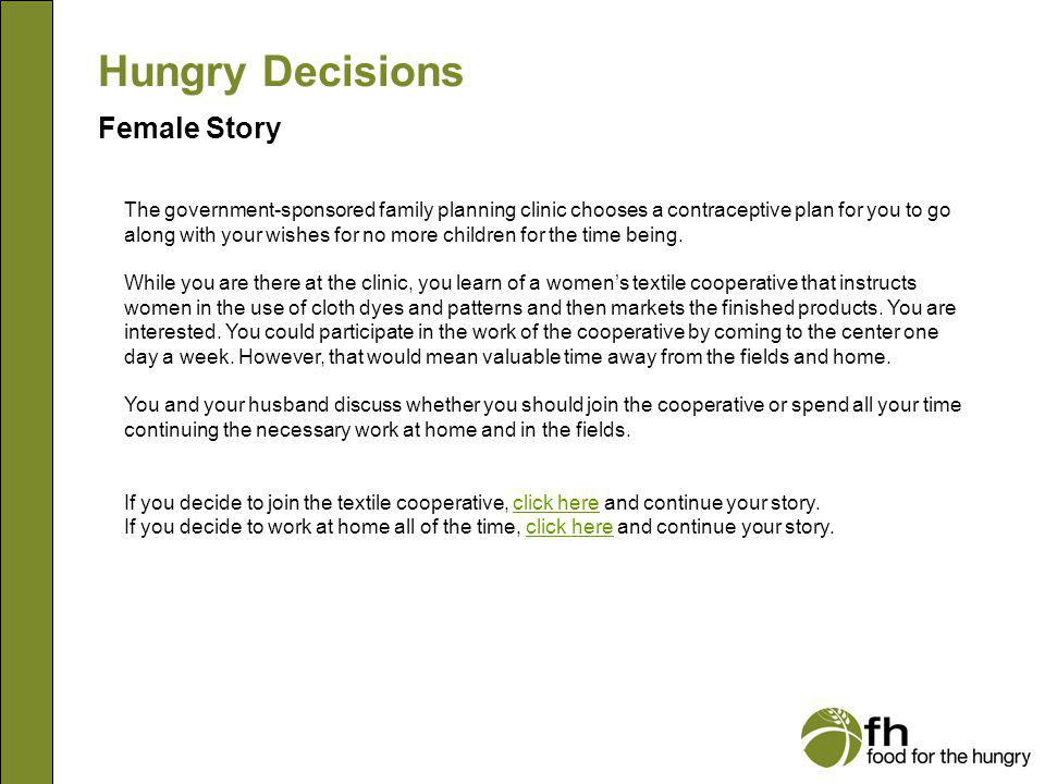 Hungry Decisions Female Story f3
