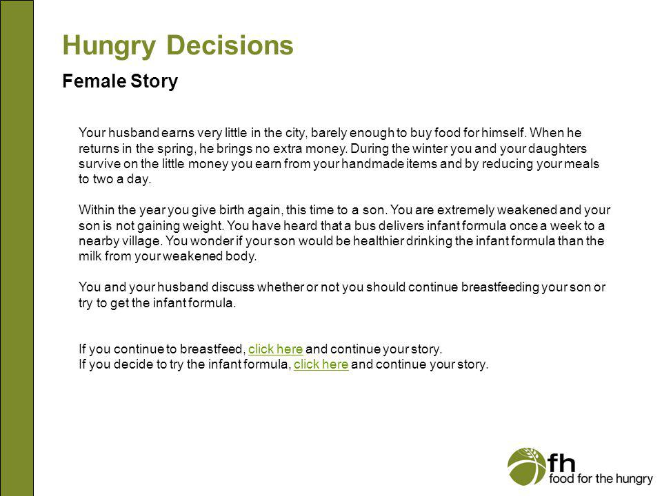 Hungry Decisions Female Story f4