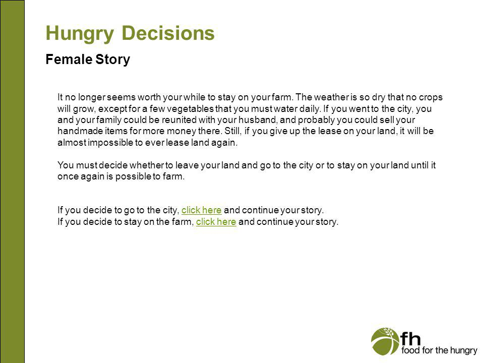 Hungry Decisions Female Story f5