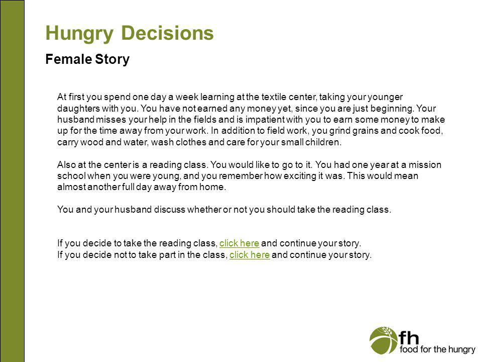 Hungry Decisions Female Story f6