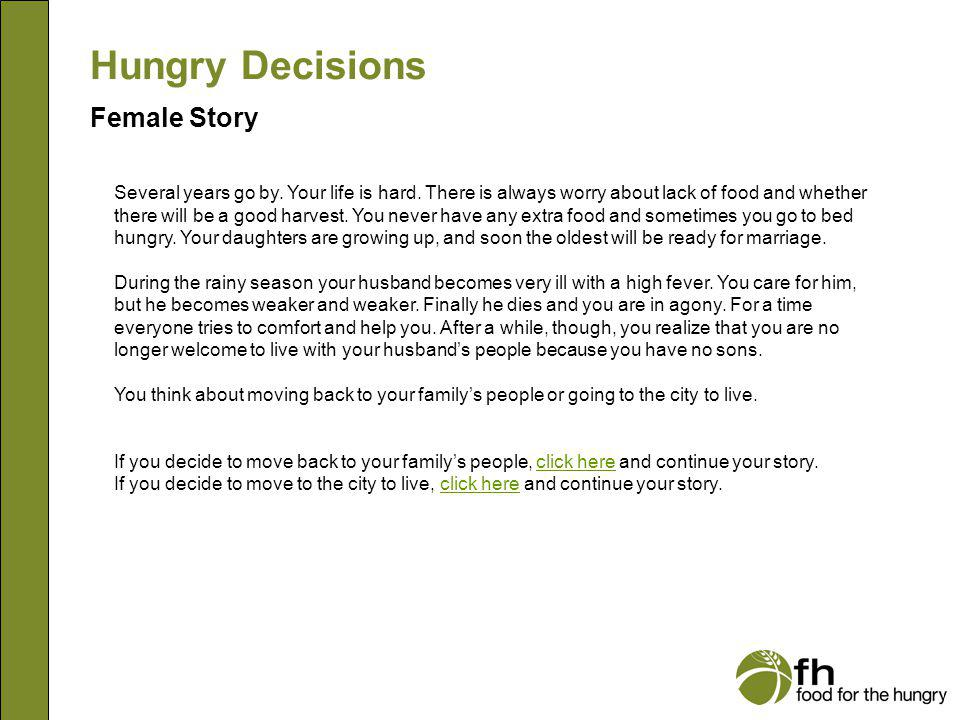 Hungry Decisions Female Story f7