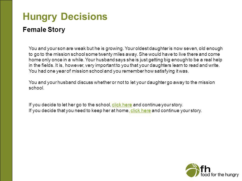 Hungry Decisions Female Story f8