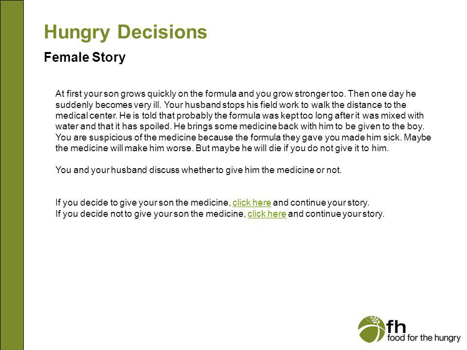 Hungry Decisions Female Story f9