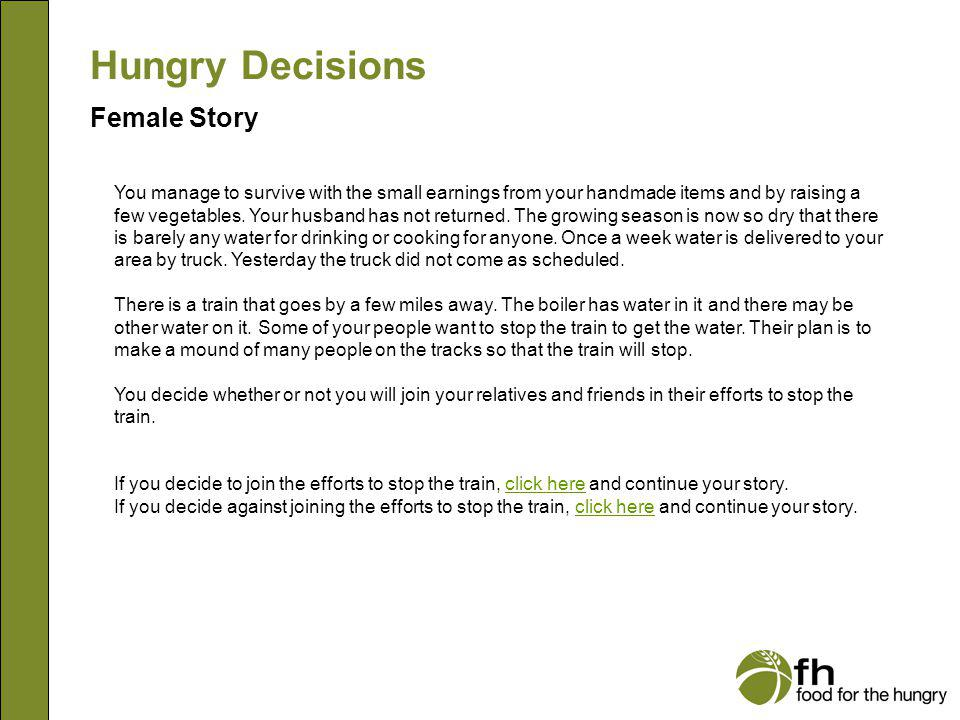 Hungry Decisions Female Story f11