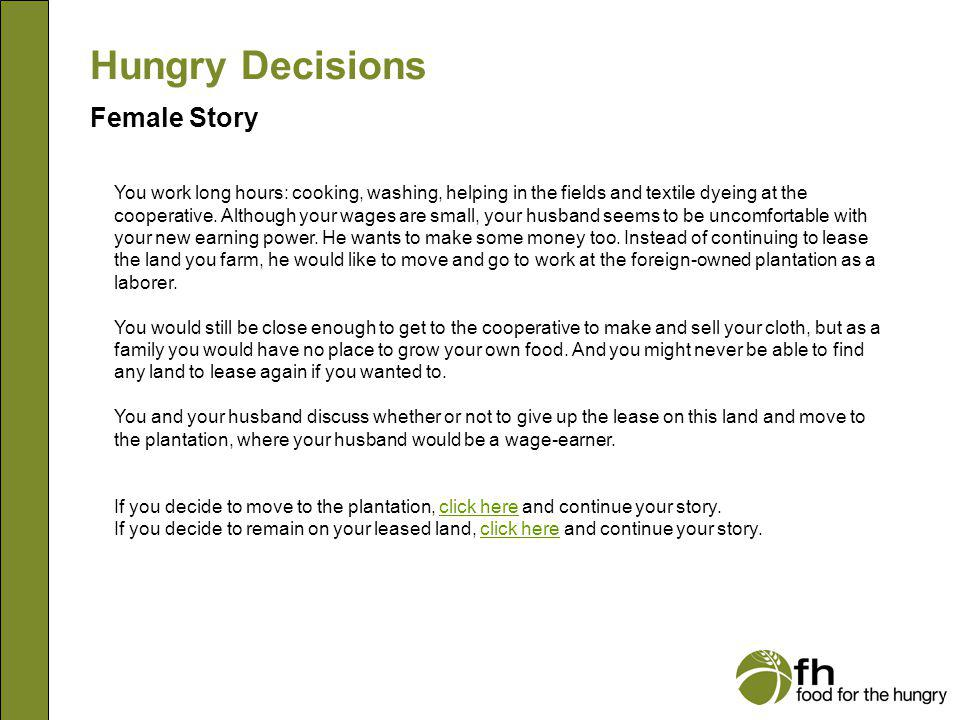 Hungry Decisions Female Story f13