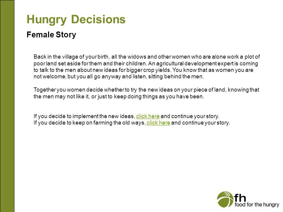 Hungry Decisions Female Story f14