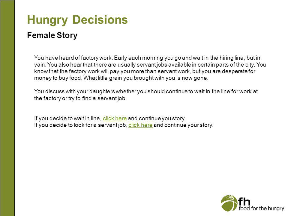 Hungry Decisions Female Story f15