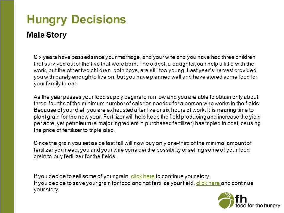 Hungry Decisions Male Story m2