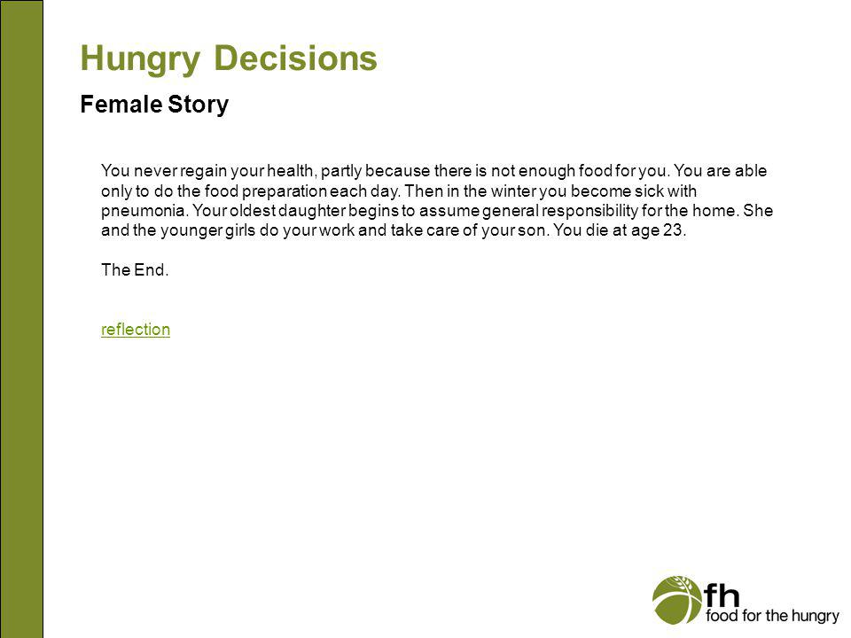 Hungry Decisions Female Story f17