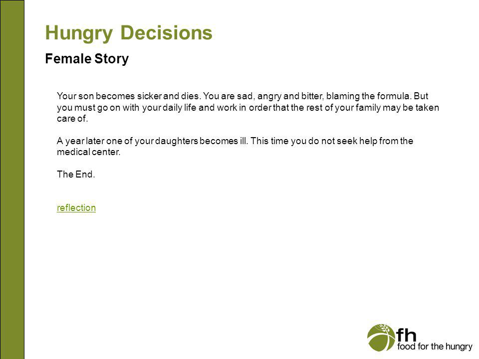 Hungry Decisions Female Story f19