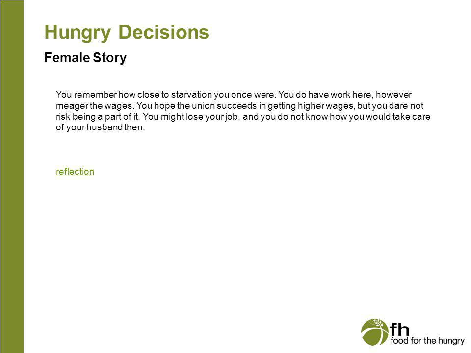 Hungry Decisions Female Story f21