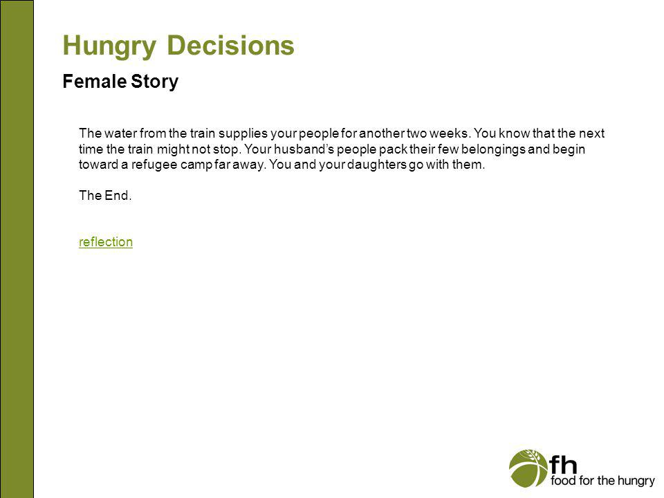 Hungry Decisions Female Story f22