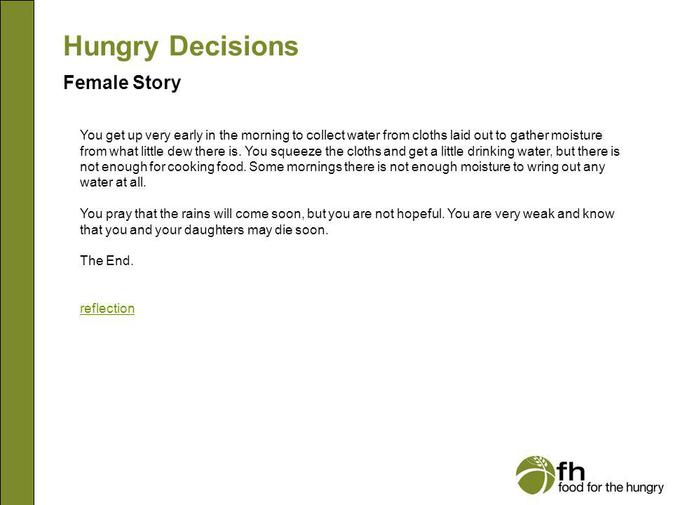 Hungry Decisions Female Story f23