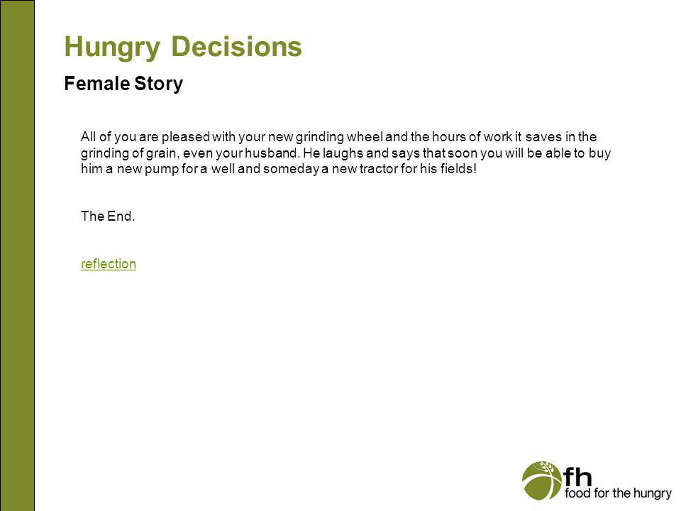 Hungry Decisions Female Story f24