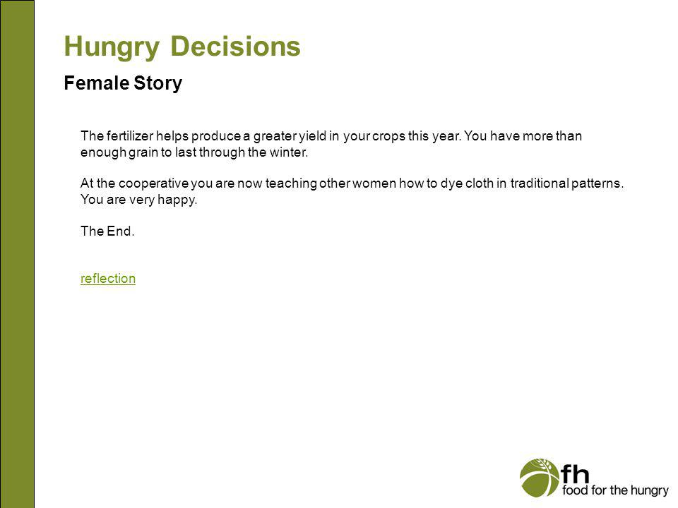 Hungry Decisions Female Story f25