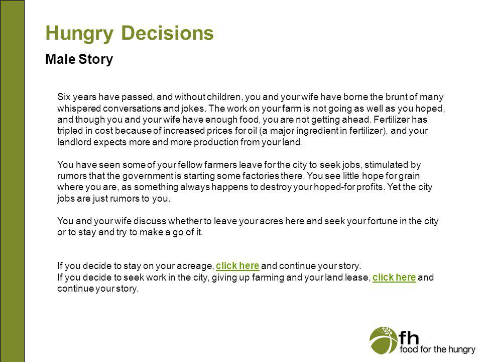 Hungry Decisions Male Story m3