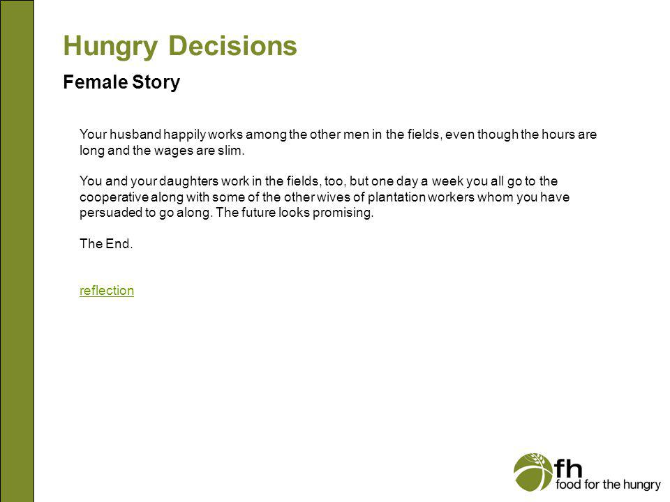 Hungry Decisions Female Story f26