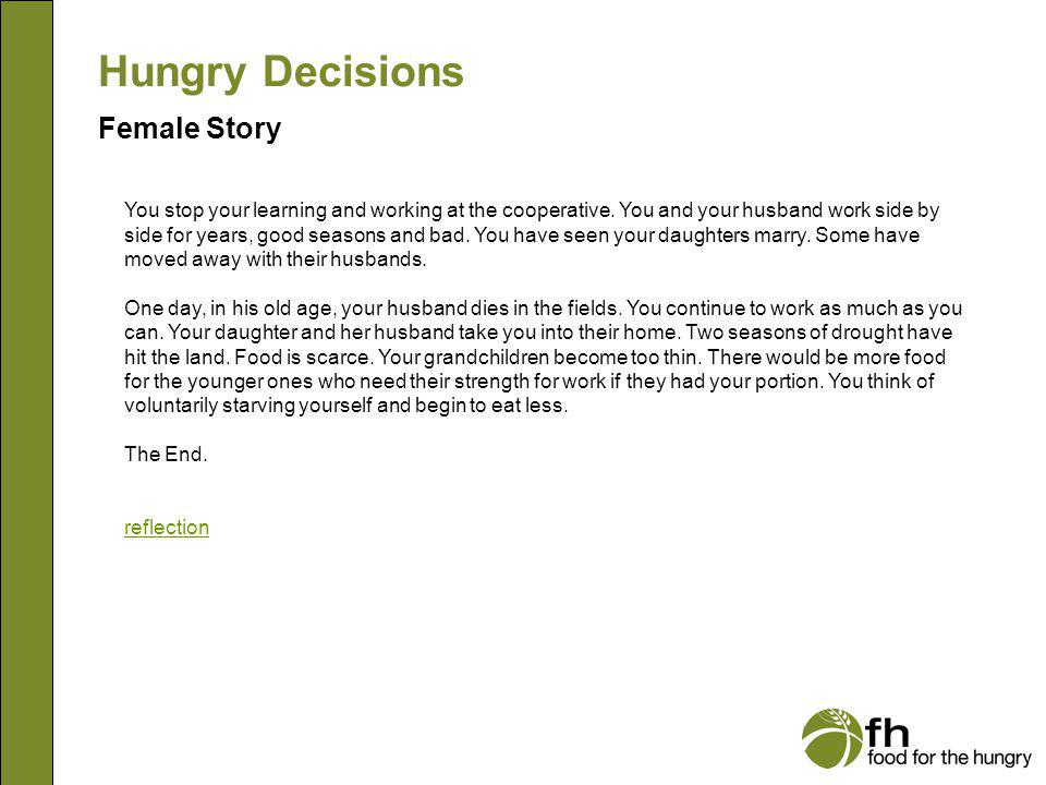 Hungry Decisions Female Story f27