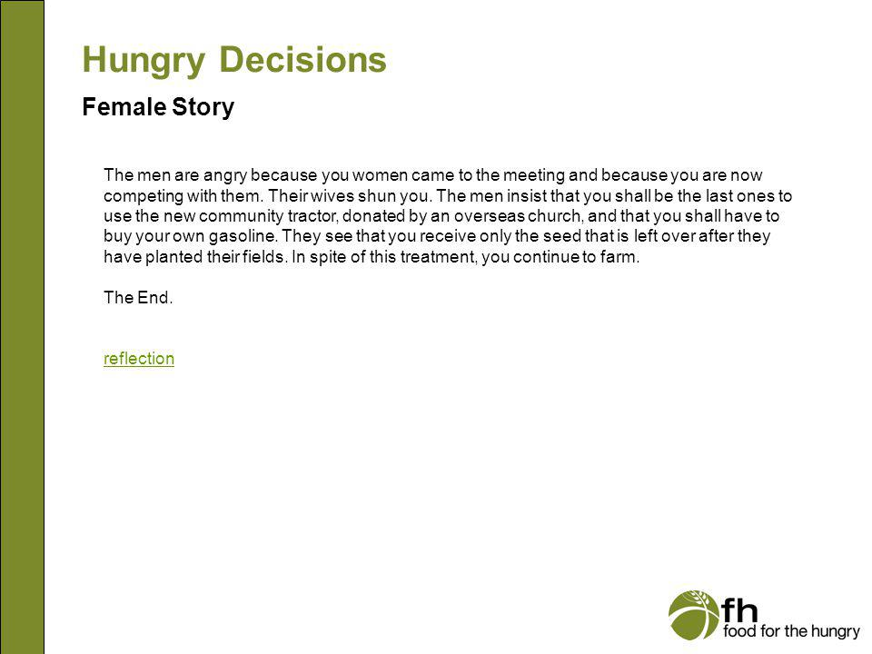 Hungry Decisions Female Story f28