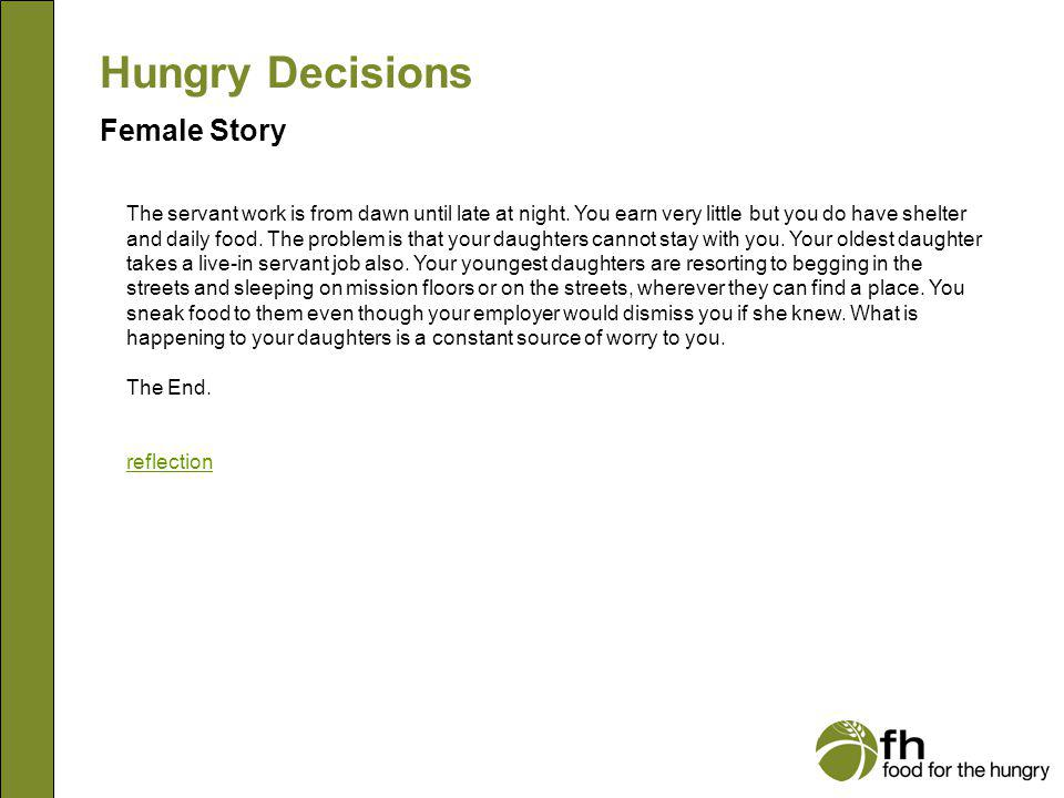 Hungry Decisions Female Story f31