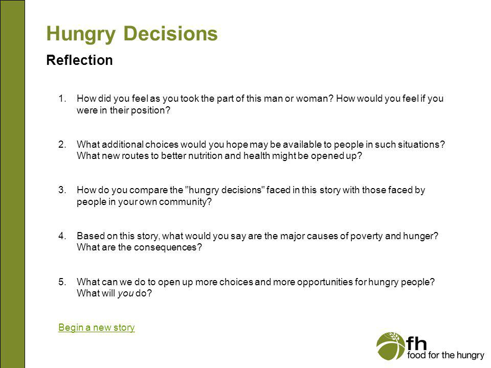 Hungry Decisions Reflection reflection
