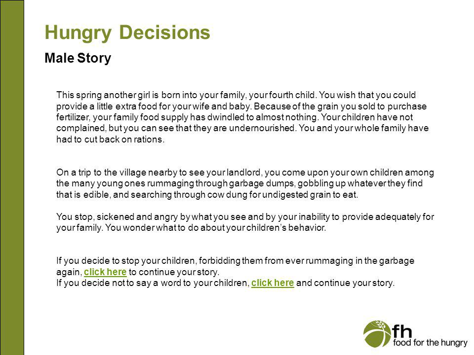 Hungry Decisions Male Story m4