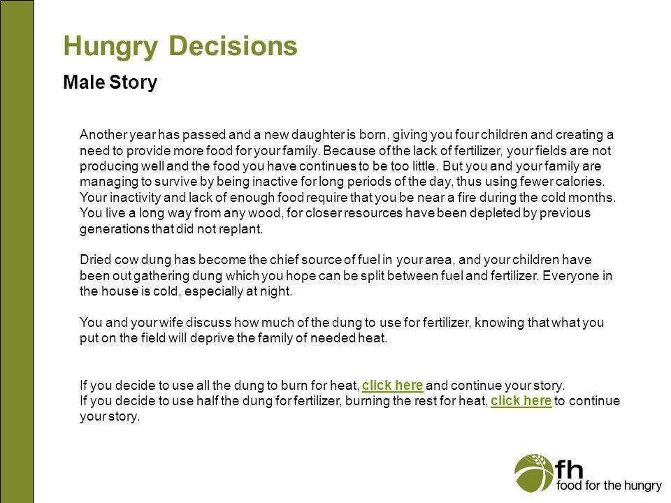 Hungry Decisions Male Story m5