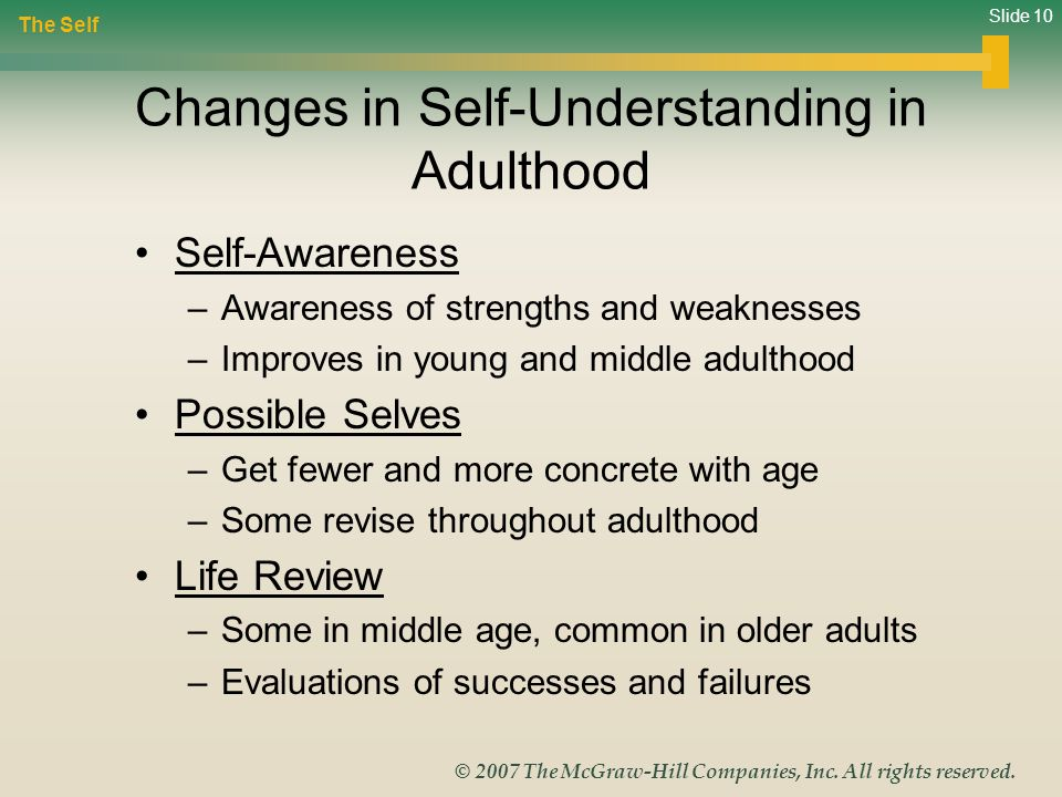 Changes in Self-Understanding in Adulthood