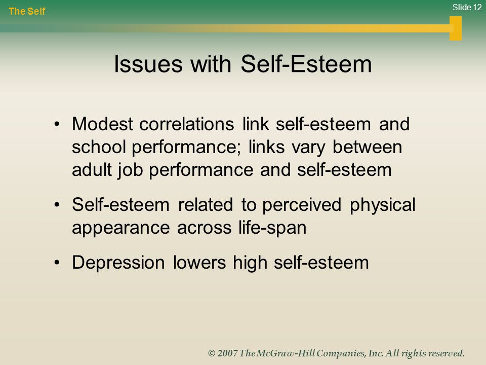 Issues with Self-Esteem