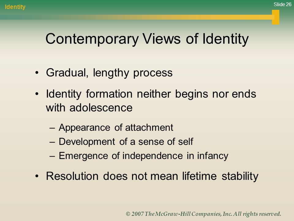Contemporary Views of Identity