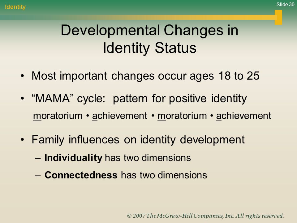 Developmental Changes in Identity Status