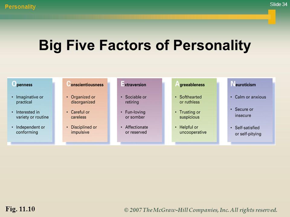 Big Five Factors of Personality