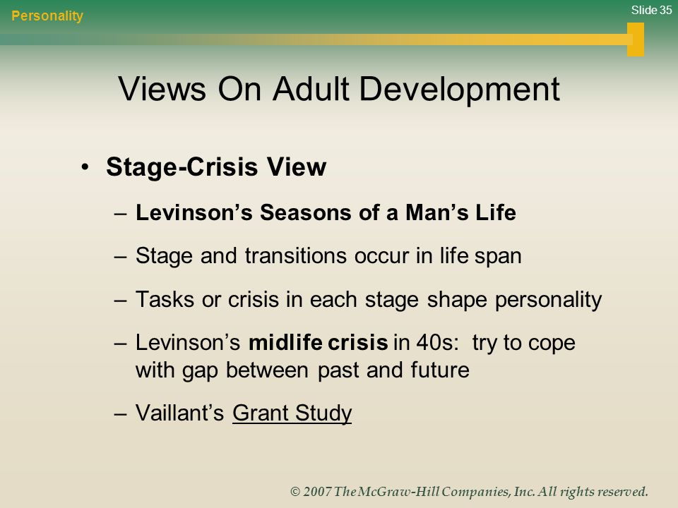 Views On Adult Development