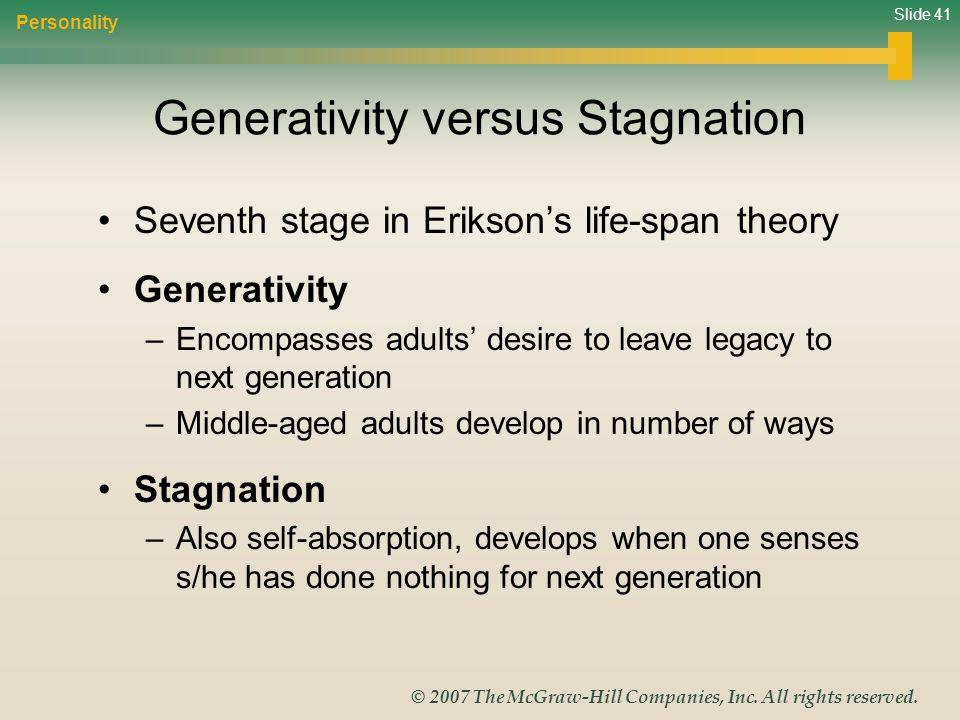 Generativity versus Stagnation
