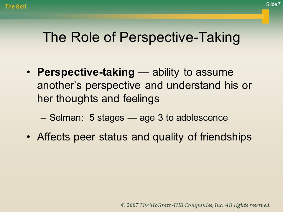 The Role of Perspective-Taking