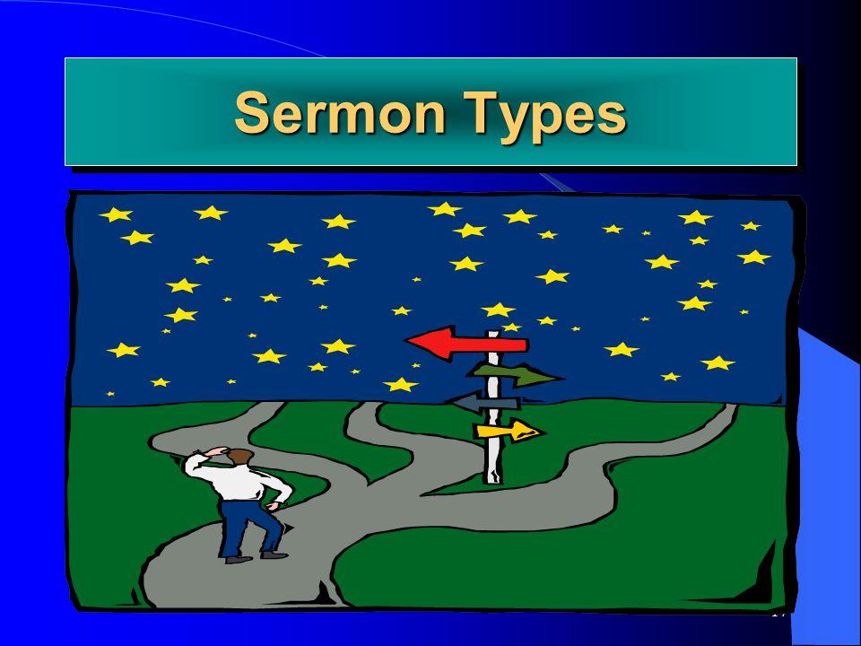 Sermon Types Joe Price