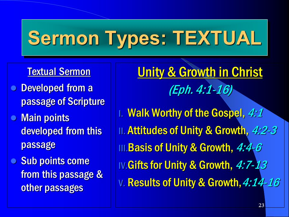 Unity & Growth in Christ