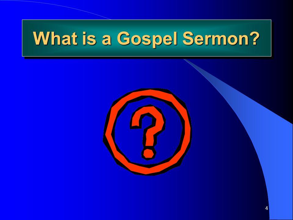 What is a Gospel Sermon Joe Price