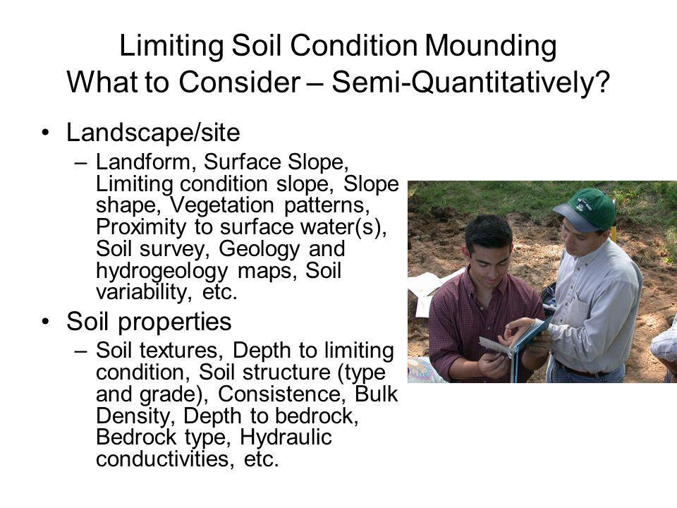 Limiting Soil Condition Mounding What to Consider – Semi-Quantitatively