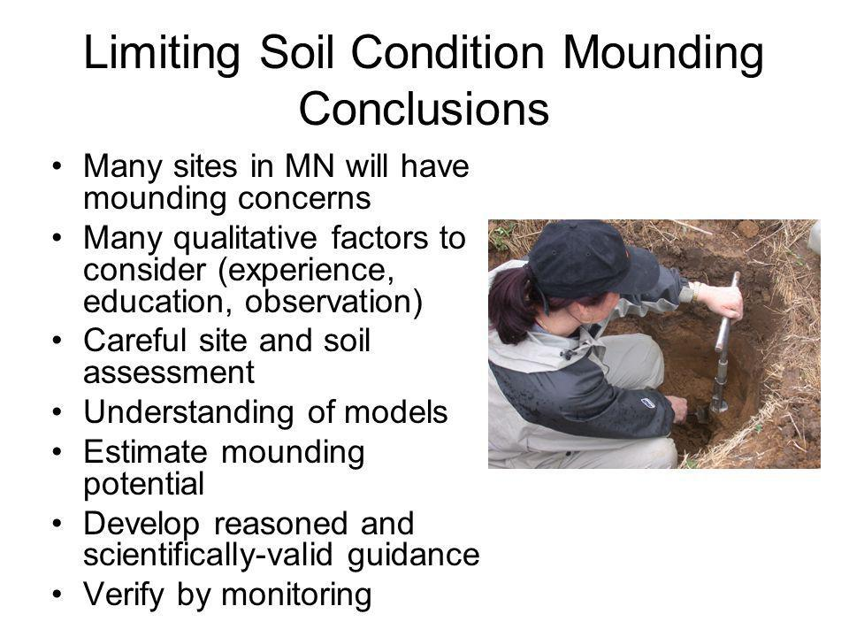 Limiting Soil Condition Mounding Conclusions