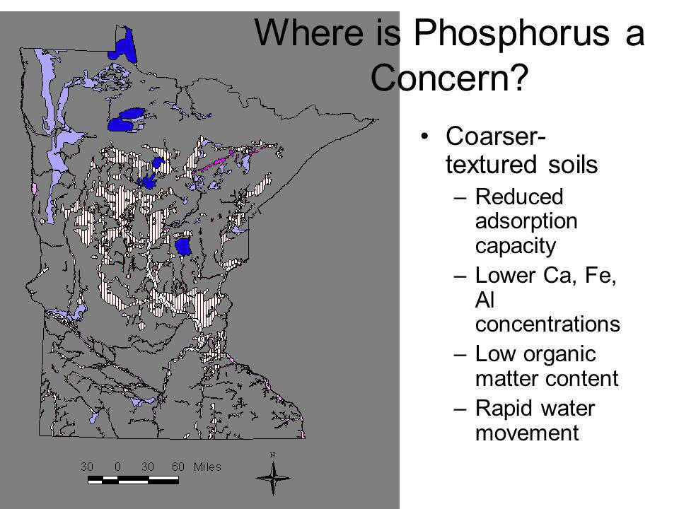 Where is Phosphorus a Concern