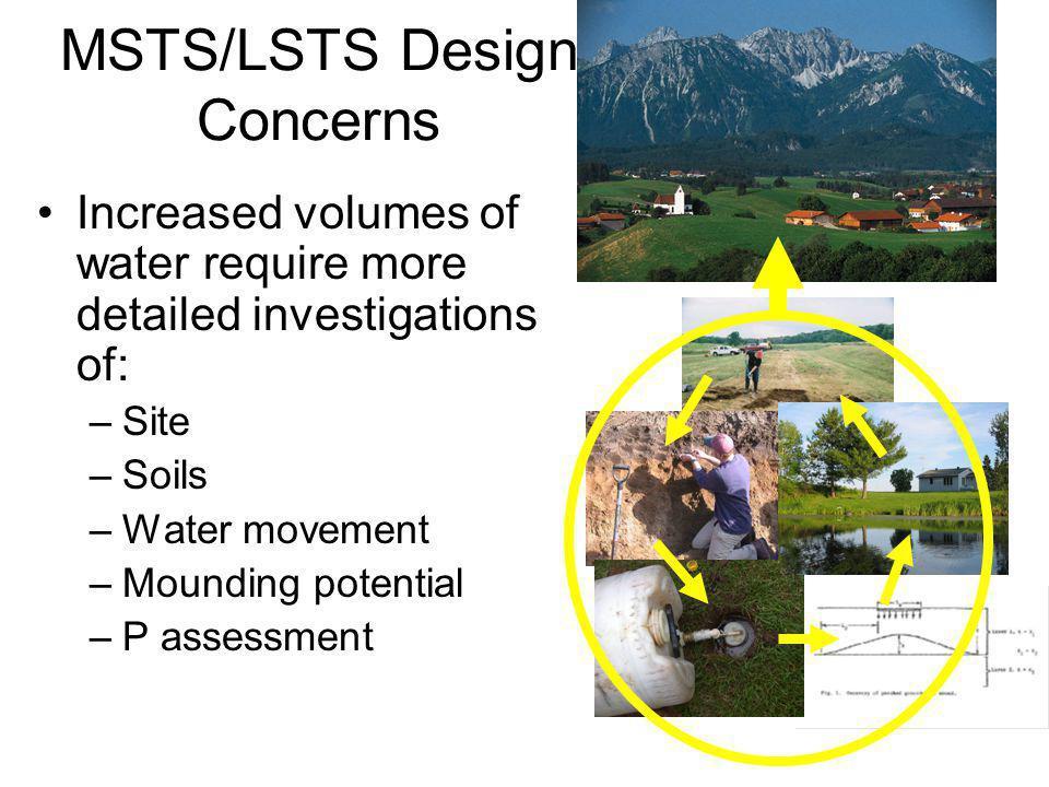MSTS/LSTS Design Concerns